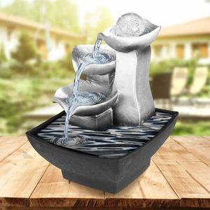 Rockery Indoor Fountain Waterfall Feng Shui Desktop Wasser Sound Meter Dekoration Handwerk Dekoration Zubehör Geschenke LJ200903