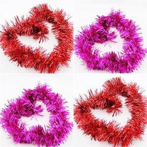 2 متر عيد الميلاد الحلي تينيل جارلاند متعددة الألوان حزب اللوازم سباركلي سقف شنقا ديكورات جارلاندز الرئيسية جديد وصول 0 74ab g2