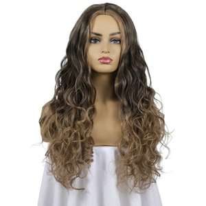 2020 hot sale European and American wigs new long curly hair chemical fiber ladies fashion hair sets