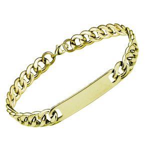Wukaka Bracelets en acier inoxydable jour de Dorées Bracelet Père frais garçon Bracelet Homme Bijoux