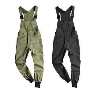 New Autumn Men's Baggy Harem Jumpsuits Male Loose Cargo Bib Overalls Pants Woman Streetwear Suspender Pants Winter Stap Trousers