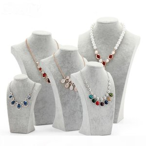 Nice Velvet Jewelry display Bust Necklace Show Bust for Jewelry Storage Stand for Decorations Mannequin Display Rack Shelf