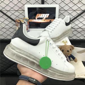 Calidad superior 2020 hombres zapatillas para mujer zapatos casuales mejor moda zapatos de plataforma de cuero blanco plana al aire libre vestido diario zapatos de fiesta con caja