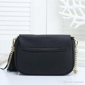 2019 new designer diagonal Messenger bag luxury handbags ladies shoulder bag gold leather multi-color famous brand bags