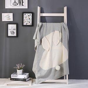 11 tipos de cores ouvidos nova explosão de coelho da manta de algodão de malha de cama cobertor lance sofá / mantas ar infantil cobertor Y201009