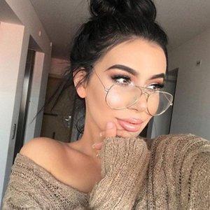 2020 Newest Men Classic Pilot Glasses Frame Briefs Women Fashion Myopia Prescription Glasses Frames Optical Eyewear S2489
