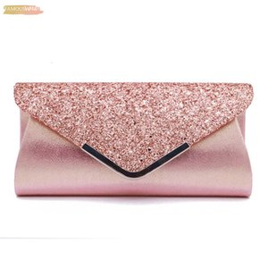 Fashion Casual Minaudiere Day Clutch Women Ladies Pu Leather Mini Handbag Solid Glisten Bag Party Club Evening Bag