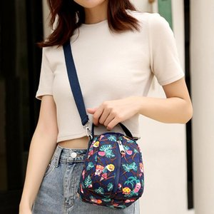 New Exquisite Colorful Printing Young Girls Shoulder Bag Practical Travel Portable Bag Fashion Mini Women Crossbody