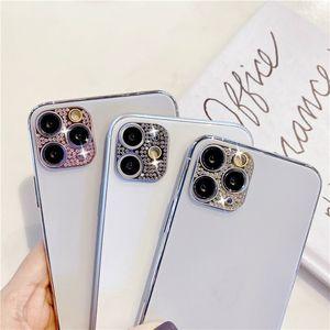 iPhone 12 12 Pro Max Shiny Bling 다이아몬드 렌즈 케이스에 대한 새로운 카메라 렌즈 보호 장치 iPhone 11 12 Mini