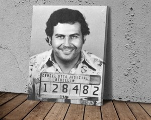 Pablo Escoval's Face Wall Art Behind The Curtain Canvas Paintings Cuadros Wall Art Pictures for Home Decor