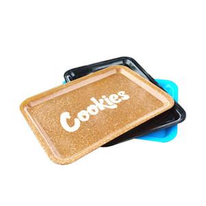 Cookies Rolling Tray Plastic 18x12cm S Размер Маленький ручной роликовый ролик лоток чехол 3 цвета высокого качества DHL бесплатно