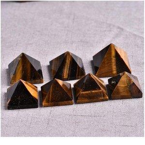 1 PC Naturel Tiger Eye Pyramide Cristal Cristal Naturel Pierre Naturel Minéral Cyanite Cadeau Accueil Feng Shui Décoration Free Jllwqt