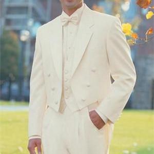Custom Made Gray Men 3 Piece Suit Groom Tuxedos Groomsman Bridegroom wedding suits for men Man Suits ( jacket+Pants+vest+tie)