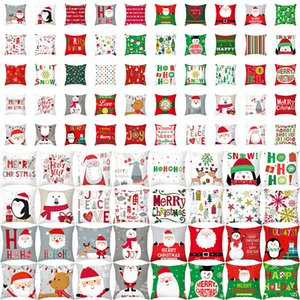 70 Style Elk Santa Claus Christmas Cushion Cover Merry Xmas 2020 Xmas Gift Christmas Decorations Christmas Pillowcase XD24021