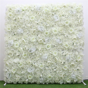Free Shipping Artificial Hydrangeas Rose Flower Wall for Wedding Decoration Flower Panels Baby Shower Xmas Backdrop Decor