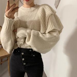Alien Kitty 2020 Nouveau printemps coréenne style lâche Pull Femmes solides en tricot overs Pulls Hiver chaud Plus Size Pull Femme