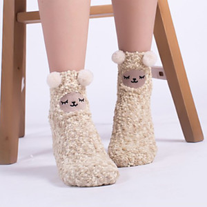 3D Cute Animals Winter Warm Crew Fuzzy Socks Value Pack Women Girls Colorful Indoors Fluffy Fuzzy Slipper Socks 50pair HHE4077