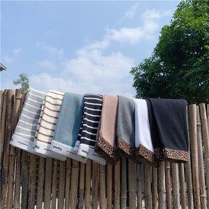 Korean style cute girls pure cotton 8 colors striped leggings kids fashion all-match leopard skinny pants 201207