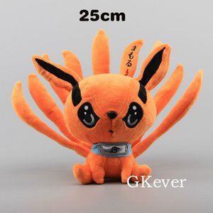 25 cm Anime Naruto Shippuden Fox Demon Peluş Oyuncaklar Bebek Sevimli Uzumaki Kyuubi Kurama Dokuz Tales Fox Dolması Oyuncaklar Hediye Kızlar Çocuklar Için 201027