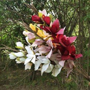 Materiali Arrangement JAROWN fiore artificiale Gladiolo Orchidea fiore di seta singolo Fiori Filiale di nozze fai da te Home Decor