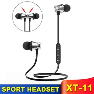 XT11 Magnetic Wireless bluetooth BT4.2 Earphone music headset Phone Neckband sport Earbuds with Mic For iPhone Samsung Xiaomi