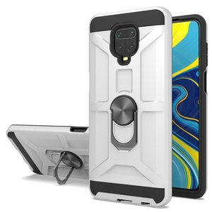 Heavy Duty Rugged Armor Ring Car Mount Holder Case for Xiaomi Redmi Note 9 9s Pro Max 9A Cover w  Kickstand