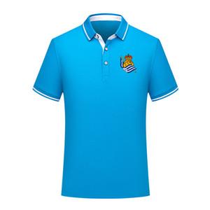 Real Sociedad de verano Moda de verano Polo de fútbol de algodón hombres de manga corta solapa polo fútbol hombres polo camisa de entrenamiento Jersey