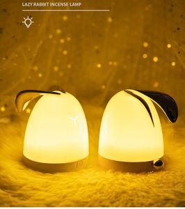 Simpatico coniglio Aromaterapia Lampada ricaricabile Battery Aroma Diffusore LED Night Light Purificatore d'aria