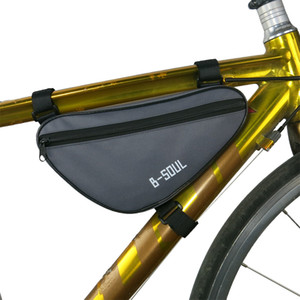 핫 사이클링 프론트 백 방수 야외 삼각형 자전거 전면 튜브 프레임 가방 산악 자전거 파우치 자전거 프레임 가방 액세서리