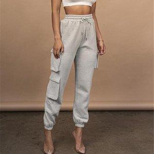 Женские брюки Capris Hirigin 2021 осень весна старинные пэчворки бегуны спортивные штаны Harajuku женщина брюки эластики высокая талия твердый цвет