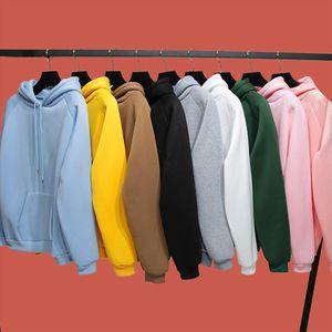 Plain Thick Hoodie Autumn Winter Female Basic Sweatshirt Poleron Mujer 2020 Kangaroo Pocket Hoodie Raglan Sleeve Hoodie Women