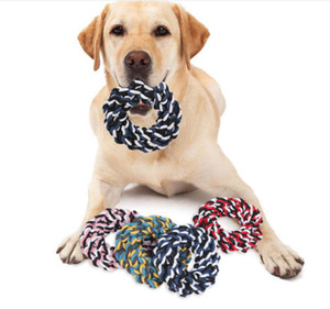 1 pcs Pets dogs pet supplies Pet Dog Puppy Cotton Chew Knot Toy Durable Braided Bone Rope