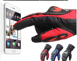 Riding Tribe Winter Warm Waterproof Motorcycle Gloves Full Finger Anti-fall Racing Locomotive Rider Equipped with Breathable Touch Screen
