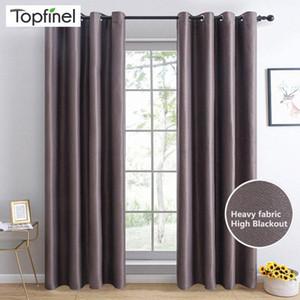 Topfinel moderna Blackout cortinas para el dormitorio ventana de la sala de tratamiento persianas Decoración alta sombreado terminados cortinas azLr #