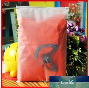100pcs 24x35cm serrure Zip Zipper Top givré des sacs en plastique pour les vêtements T-shirt Jupe emballage de vente au détail personnalisé impression logo
