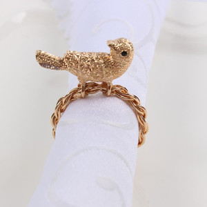 12pcs high-end bird meal buckle model room clubhouse villa restaurant hotel high-end napkin ring wedding banquet hotel table dec
