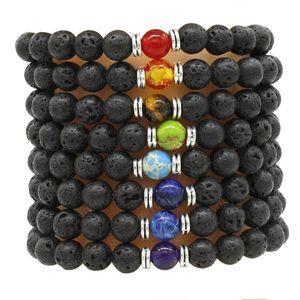 8mm oil diffuse lava rock bracelets agate tiger eye beads bracelets women men bracelets fashion jewelry