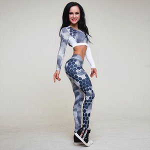 JLZLSHONGLE New Womens Fitness Suit Sets Sexy Dot Printed Tracksuit Long Sleeve Crop Top And Slim Leggings Two Piece Set