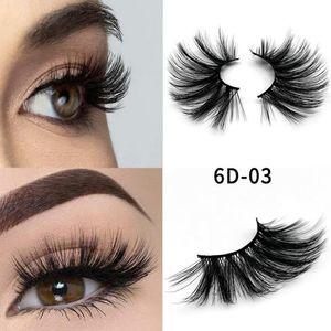 Fashion 10styles 6D 25mm Eyelashes 100% Volume Natural Long Hair 3D Mink False Eyelashes Extension Fake Lash Makeup Mink Eyelashes Pack