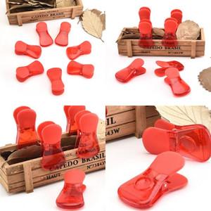 Braçadeira de vedação de alimentos puro cor lanches selo de vedação de vedação com alimentos vermelhos de plástico braçadeira nova chegada 1 45wj l1