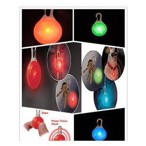 Pet Led Light Pendant Bell Dog Cat Waterproof Dog Illuminated Collar Safety Night Walking Lights Dog Pendants jllPEB lajiaoyard