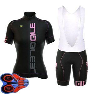 2020 Ale New Woman \&#039 ;S Breathable Short Sleeve Cycling Sets Clothes Jerseys Bib Shorts Bike Ropa Ciclismo Bicycle Jersey