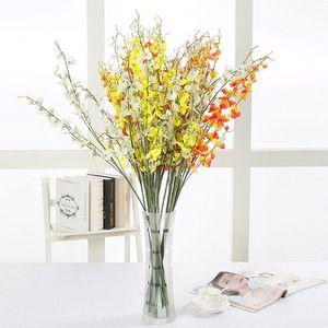 Yapay Kelebek Orkide Çiçekler Ipek Tek Flores Düğün Şenlikli Ev Partisi Dekoratif Çiçekler Malzemeleri Toptan 0007fl