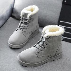 Quanzixuan Frauen Stiefel Halten Warme Plüsch Schnee Stiefel Frauen Knöchel 2020 Neue Winter Weibliche Schuhe Botas Mujer Plus Größe 43 # VC6s