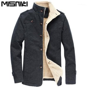 MISNIKI men winter jacket thick warm fleece stand collar coat outwear jaqueta masculina M-5XL CYG2861