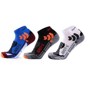 Men Fitness Socks Multicolor Wicking Breathable Ankle Socks Outdoor Running Jogging Hiking Basketball 3 Pairs Pack