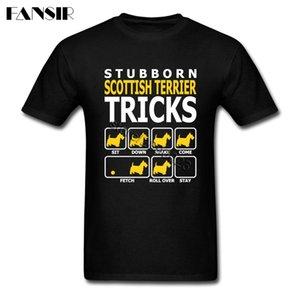 Taille plus écossais Terrier Dog Hip Hop T-shirt des hommes garçon à manches courtes T-shirt Vêtements famille Tops du sport Sweat à capuche à capuche