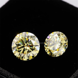 Tianyu Gems Fancy Intense Light Yellow Moissanite 6.5mm 1.0CT Round Hearts and Arrows Cut Wholesale For Ring Jewelry Making1