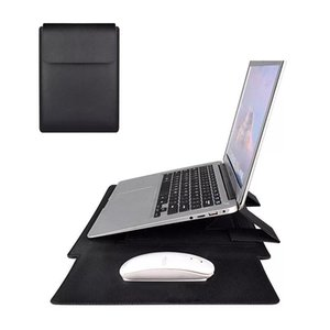 For Laptop Macbook Case for 12345.6 inch Cover Multi-fold PU Leather Smart Case Hard Back Cover with Stander Holder