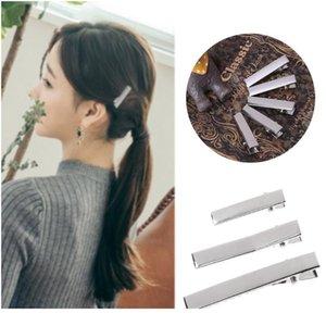 Высокое качество 50 шт. Серебряные плоские металлические Одиночные Prong Alligator Hair Clips Barrote для бантов DIY Аксессуары Функты ACC WMTAZP